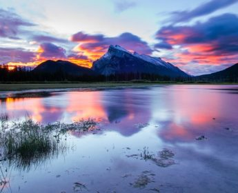 Sunset across Banff National Park