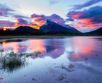 Sunset across Banff National Park