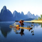 Take a photo of the famous Cormorant fishermen in Guilin, China