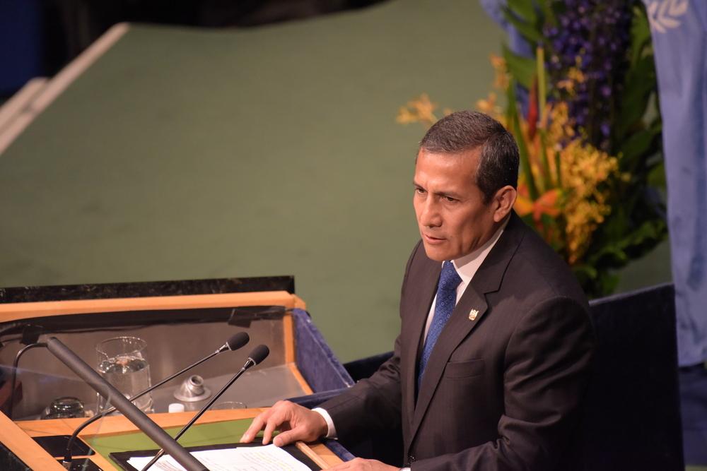 New Peruvian president Ollanta Humala