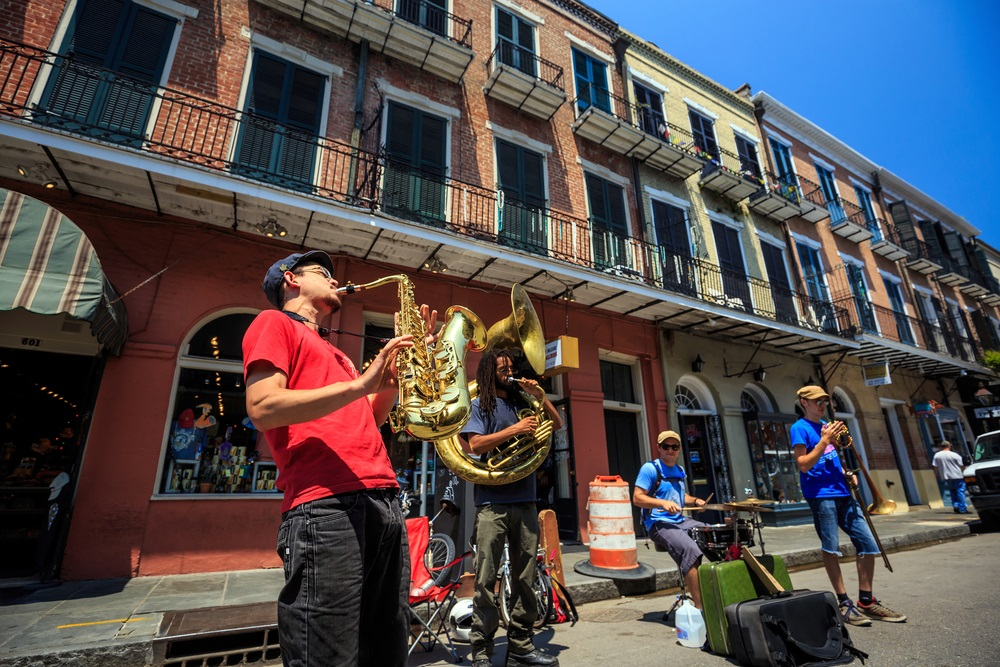 Unidentified Jazz Band in the French Quarter