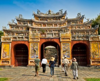Tourists at Kinh Thanh Citadel in Hue