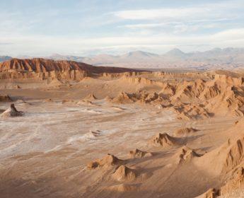 Arid terrain of Valle de la Luna