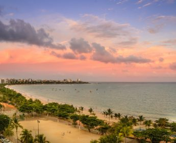 Sunset over Maceio