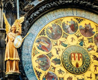 Famous Astronomical Clock in Prague