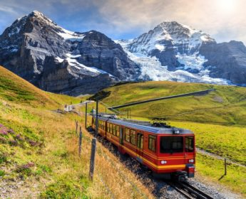 Scenic train to Jungfraujoch