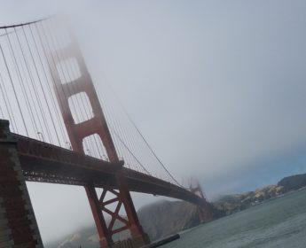 san francisco bridge foggy day