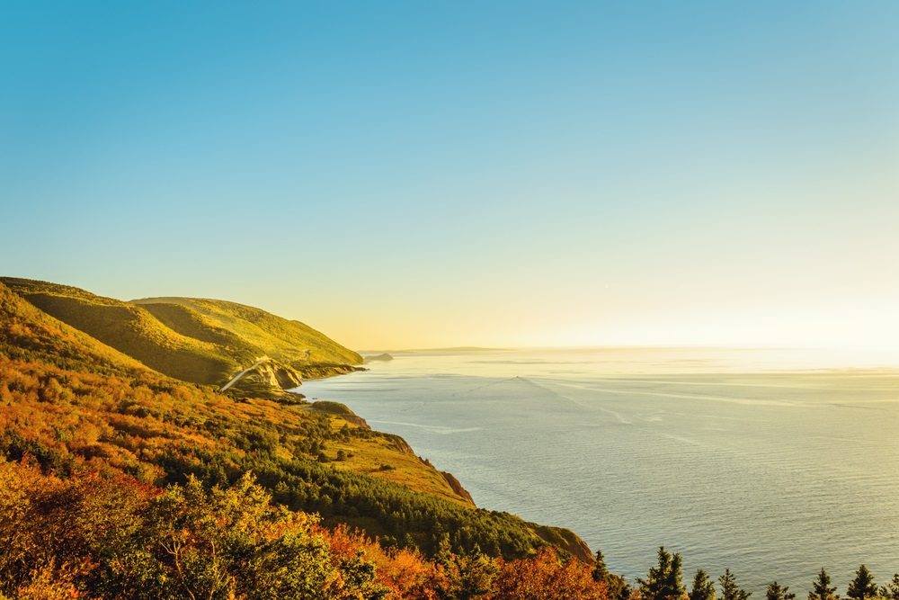 Cape Breton's coast lined with fall colors